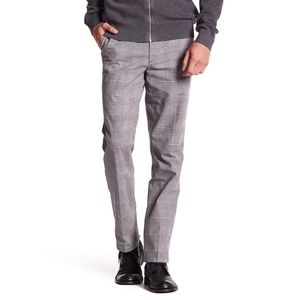 Dockers Grey Checked Plaid Dress Pant 33 x 32